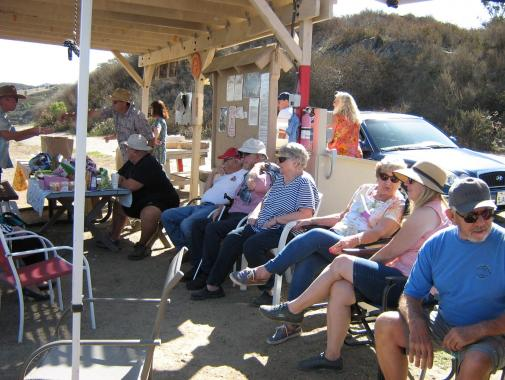 604-A few of the spectators watching the spot landing contest.