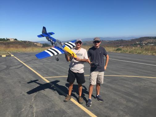 705-Seth & Ethan Successfully maiden the E-flite P-51D Mustang