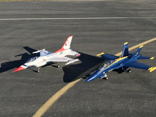 707-Navy F18 Blue Angel and Air Force F16 Thunderbird from JT and Bill
